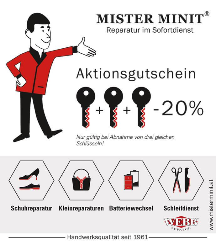 Aktionen bei MISTERMINIT MISTER MINIT